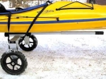 "Folding Kayak  Dolly. 12"" X 1.75""  Wheels.  Made in the USA"