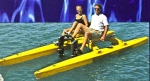 Seacycle Twin gives you comfortable all day seating at top rated speeds for human powered watercraft. Made in USA.