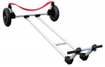 Dynamic 420 Sailboat Launching Dolly. Select STANDARD Wheels for Firm Ground - Select LARGE Wheels for Sand.
