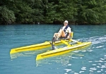 Seacycle Solo gives you comfortable all day seating at top rated speeds for human powered watercraft. Made in USA.