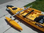 Kayak Stabilizer with Hydrodynamic Floats