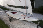 Trailex Sunfish or similar small sailboat Trailer.   The SUT-220-S is the latest model available. (formerly SUT-200-S)